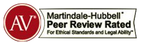 AV Martindale-Hubbell Peer Review Rating